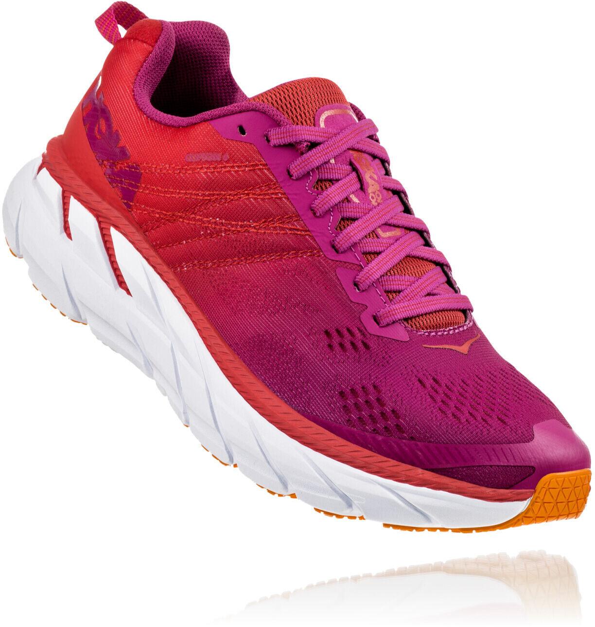 Hoka One One Clifton 6 Running Shoes Women poppy redcactus flower